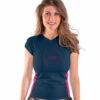 Jobe Lajkra majica kratki rokav Ženski V-Neck Midnight modra