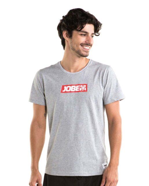 Jobe Logo Majica Moški Siv